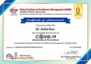 GIHM COVID Dr. Ankit Rao