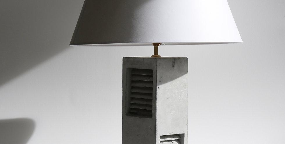 Vent Lamp/ Concrete & Parchment Shade