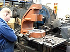 Norton Fly Press being machined