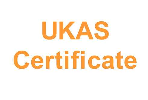UKAS Accredited Certificate