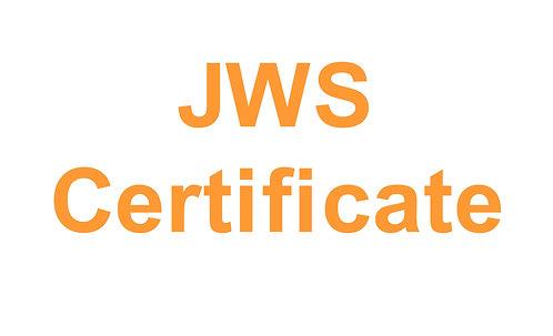 JWS Certificate of Conformity