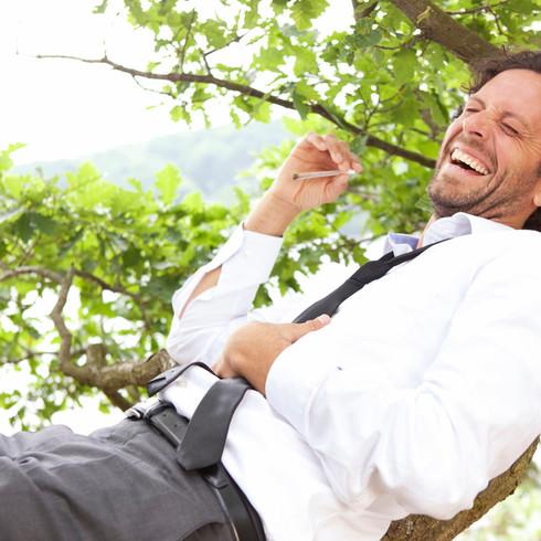 businessman in nature