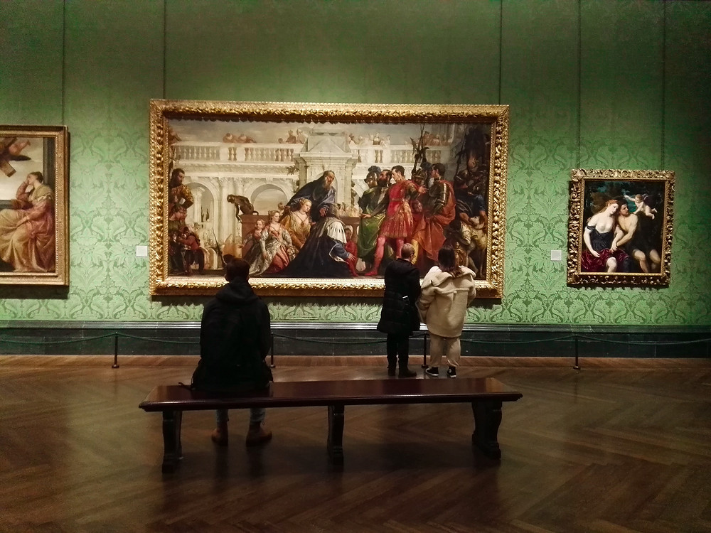 people enjoying art at the National Gallery in London