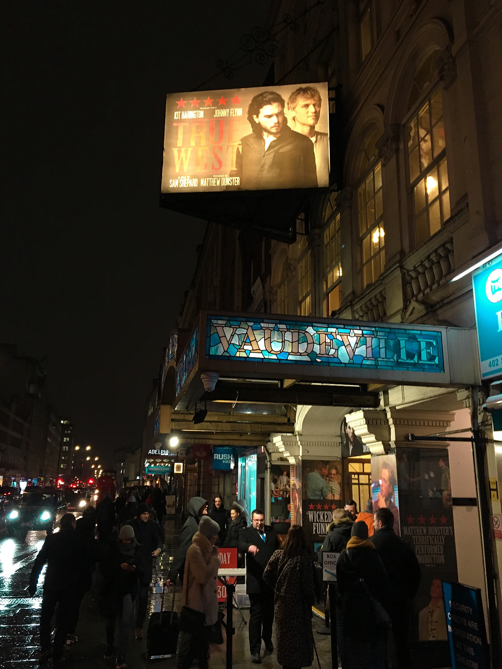 Vaudeville theatre with Kit Harrington in london