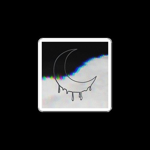 bleeding moon - steel logo sticker