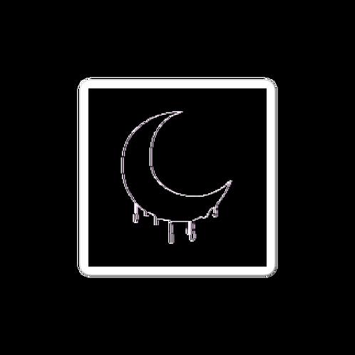 sticker - distorted bleeding moon
