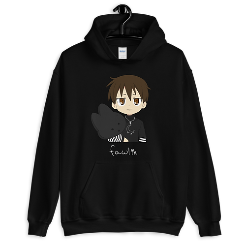 unisex hoodie - fawlin with the teddy