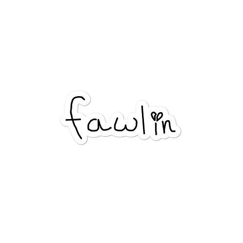 fawlin logo sticker