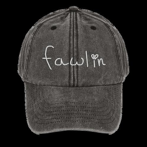 vintage dad hat - fawlin logo embroidery