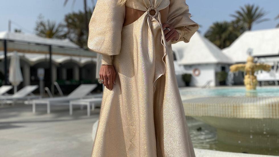 """Maxi Dress """"Elviria"""" tornasolado/iridescent"""