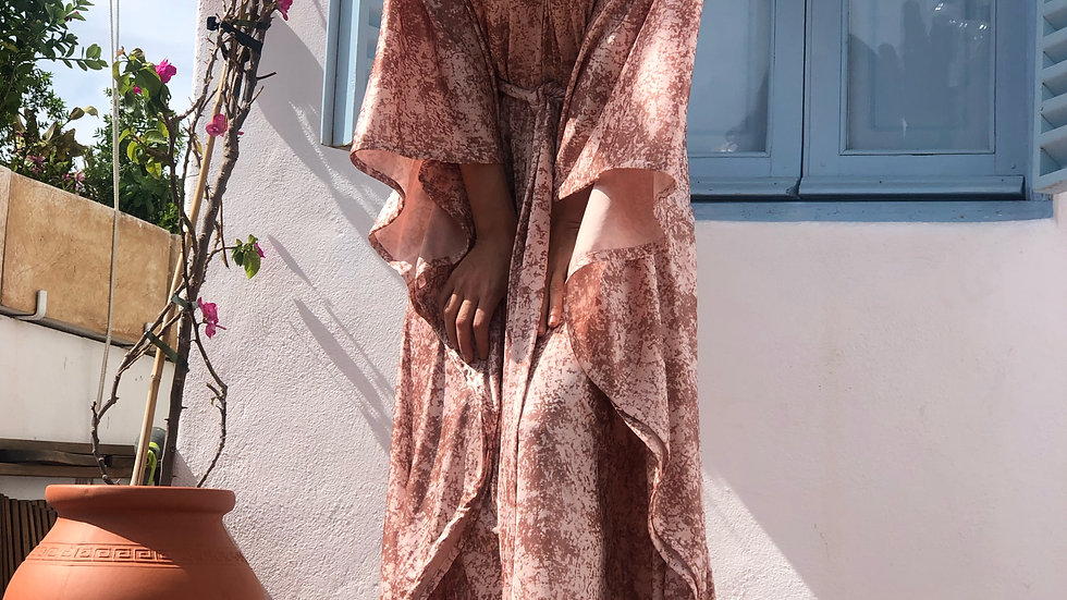 "LONG CAFTAN ""DESSERT ROSE"""