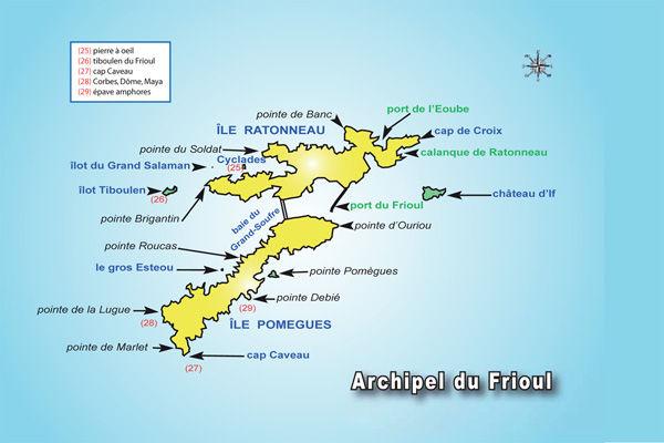 Sites de plongée de l'archipel du Frioul Marseille