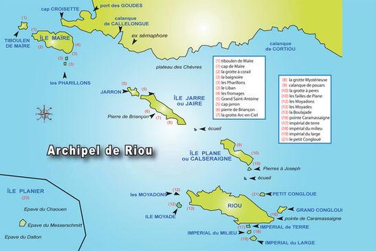 Sites de plongée de l'archipel de Riou Marseille
