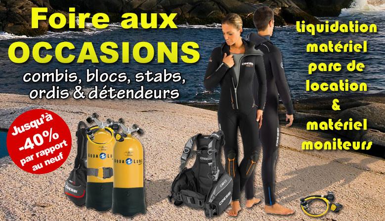 L'Atelier De La Mer fait sa foire au matériel de plongée d'occasion 2018 en liquidant son parc de location et équipements moniteurs