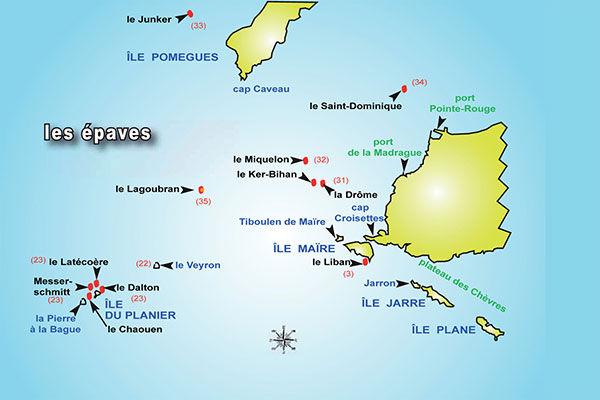 Site de plongée sur épaves Marseille