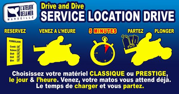 Service location de matériel de plongée unique à Marseille : le Drive and Dive par l'Atelier de la Mer