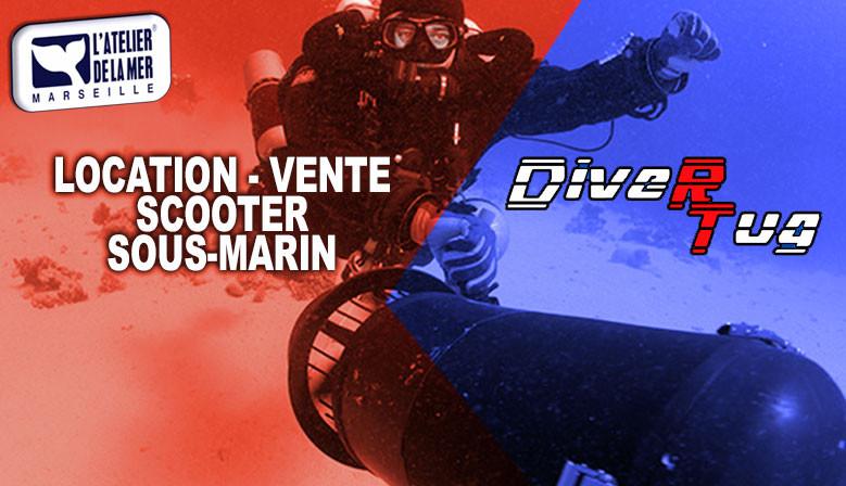 Location & vente de scooter sous-marins Divertug pour mettre du fun dans vos plongées à Marseille