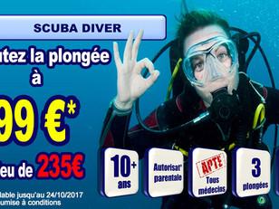 Offre spéciale PADI Scuba Diver