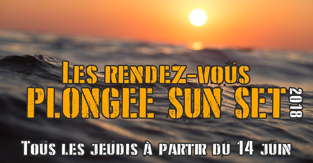Plongées nocturnes à Marseille avec les rendez-vous plongée SUN SET 2018 de L'Atelier de la Mer