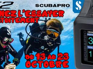 Test matériel Ordinateur G2 Scubapro du 13 au 23 octobre 2018