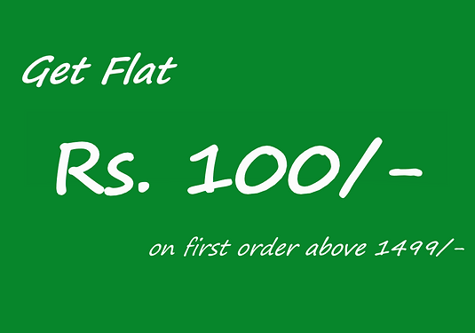 Rs.100/- on first order