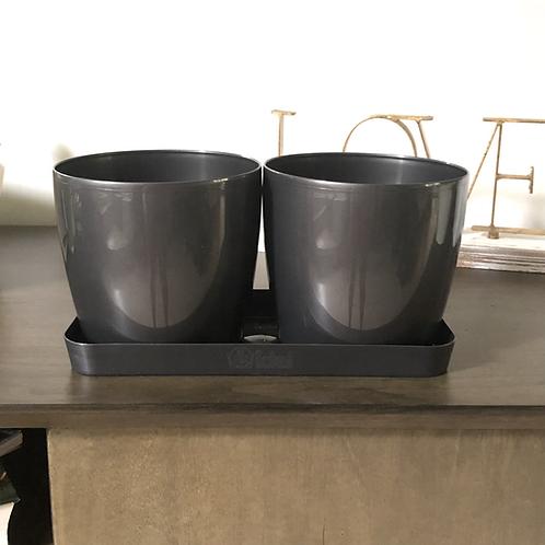 Maceta Twin Set Round Living 14x2 cm