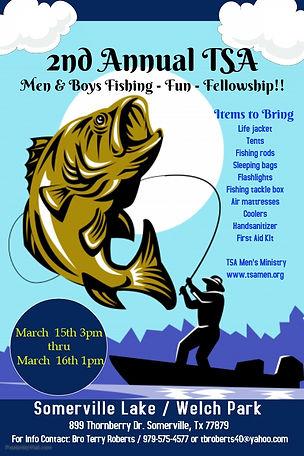 Mens and Boys Fishing, Fun & Fellowship.