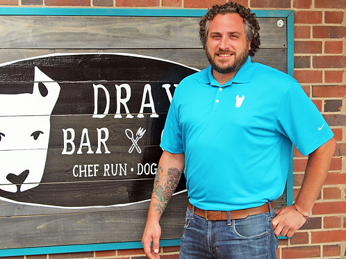 Dray Bar and Grill Blue Polo