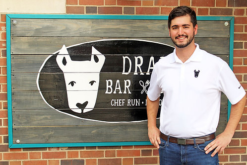 Dray Bar and Grill White Polo