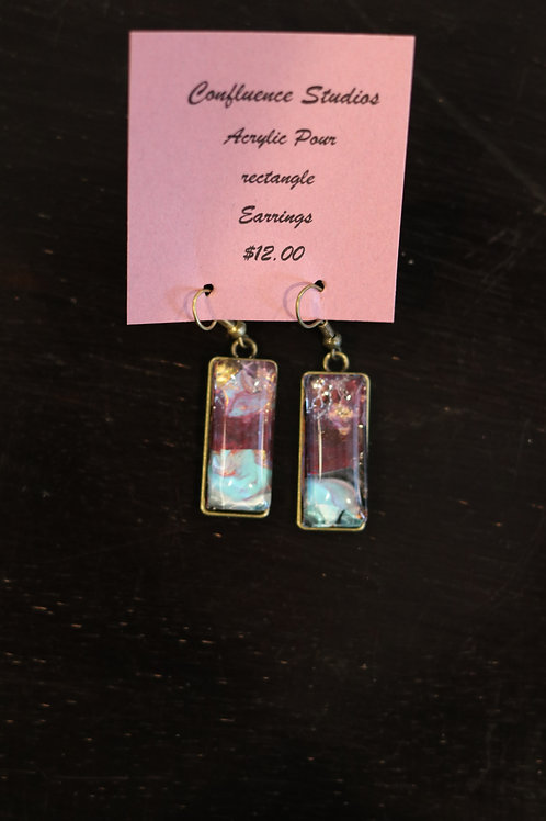 Acrylic Pour Earrings