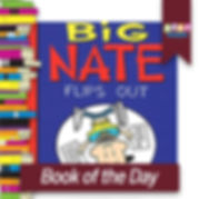 Big Nate book cover, read 2 succeed logo