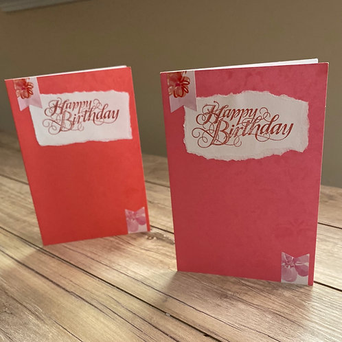 A flowery birthday card Duo