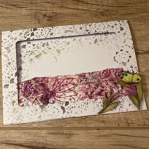 Purple flower photo frame