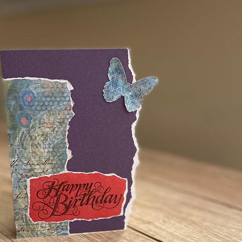 Purple butterfly birthday