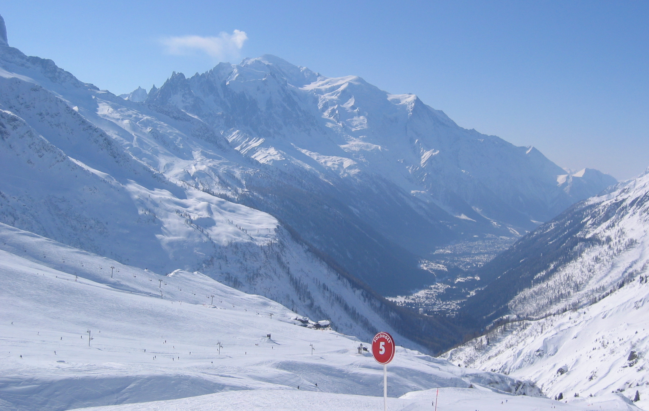 Mont Blanc from Le Tour