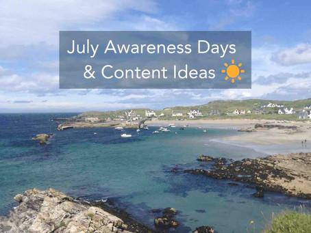 Awareness Days July 2021