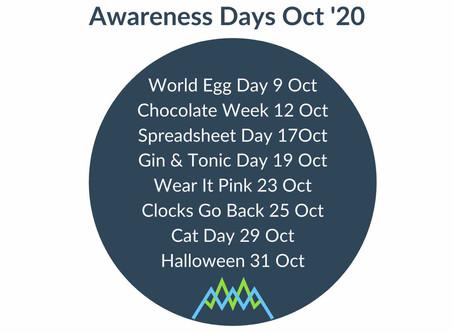 Awareness Days for October 2020