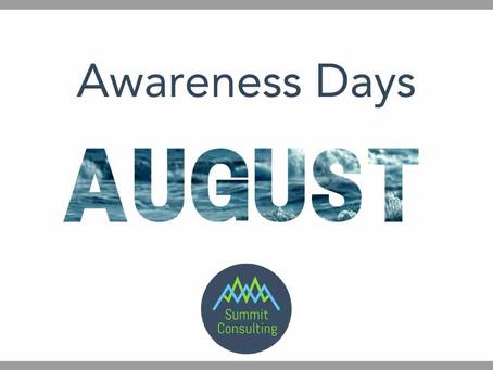 Awareness Days August 2021