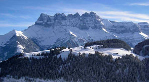 Dents du Midi from Champery Portes du Soleil