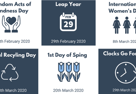 Awareness Days for February & March 2020