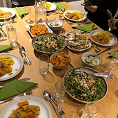 Vegetarian dinner table
