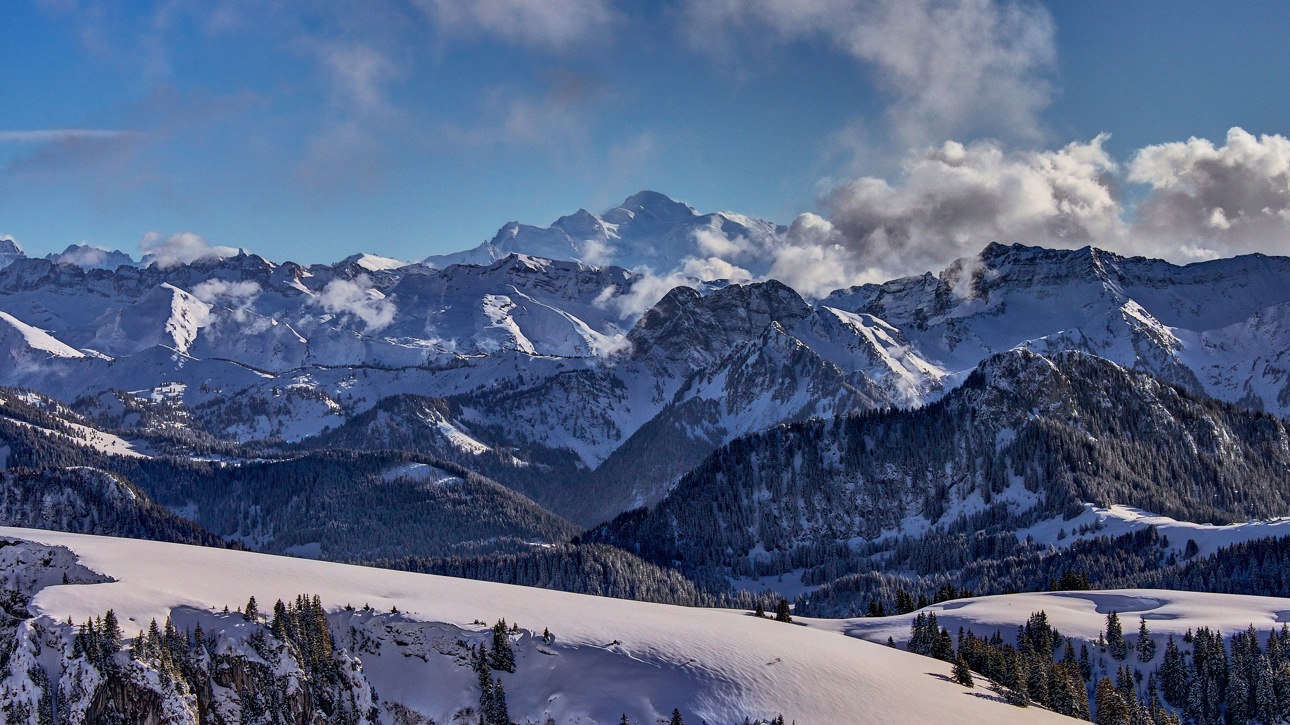 Mont Blanc Massif, from Bernex