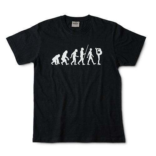 Camiseta negra evolución patinaje artístico
