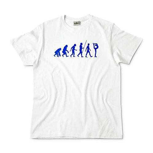 Camiseta blanca evolución patinaje artístico