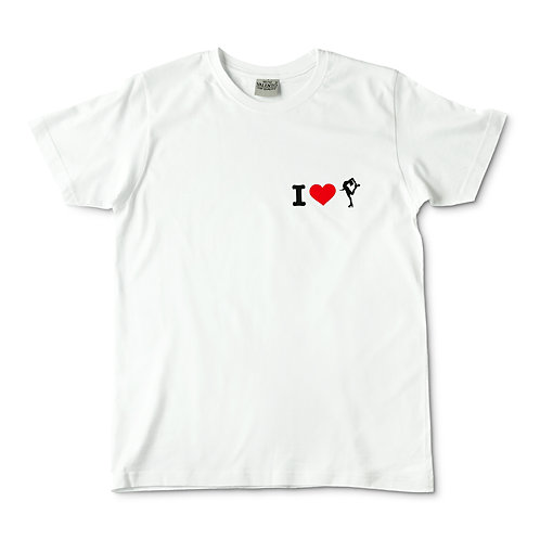 Camiseta blanca I love patinadora
