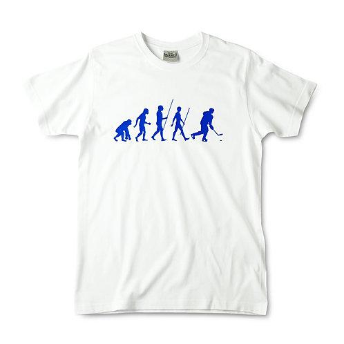 Camiseta blanca evolución hockey
