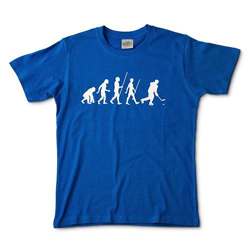 Camiseta azul evolución hockey