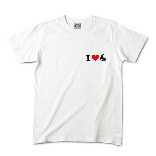 Camiseta blanca I love patín