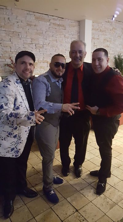 With Angel Rios and Adriel Gonzalez II after our show with Frankie Ruiz Jr