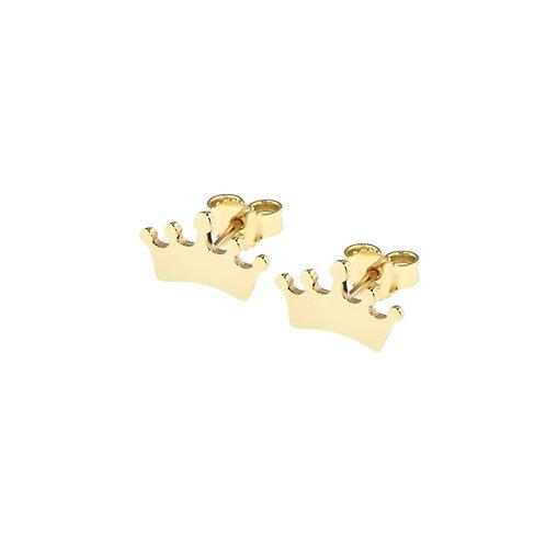 Orecchini in oro giallo con coroncina